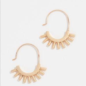 Madewell gold hoops EUC